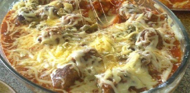 Almôndegas gratinadas com purê de batatas-3
