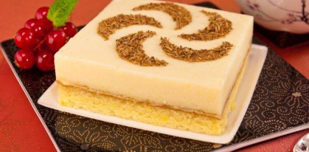 Bolo de biscoito com suflê de laranja-1