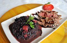 risoto-morango-arroz-negro